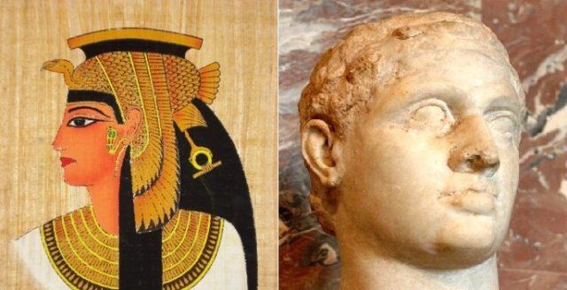 Клеопатра VII и Птоломей