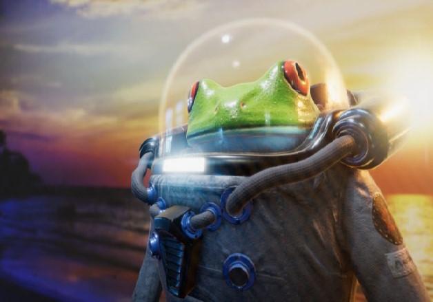 Лягушка астронавт