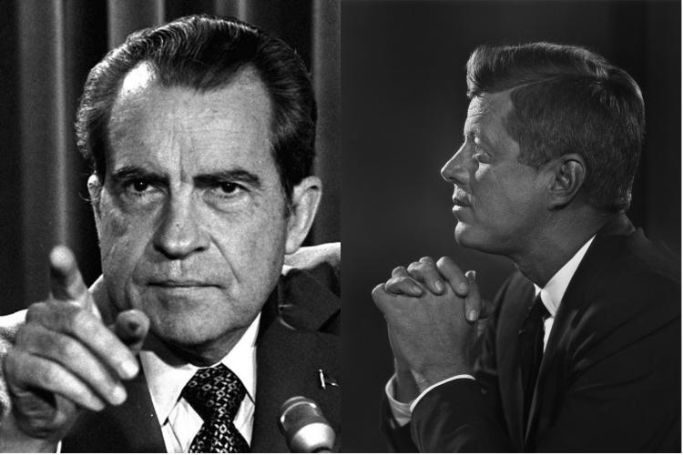Кеннеди и Ричард Никсон