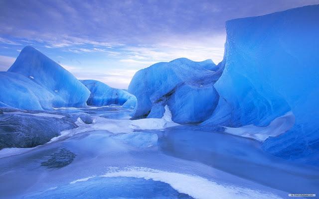 Южный полюс содержит 61% пресной воды земли