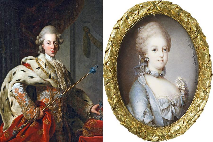 Кристиан VII датский и Каролина Матильда