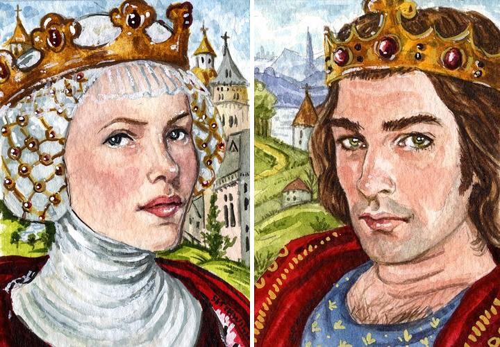 Изабелла Французская и король Эдуард II