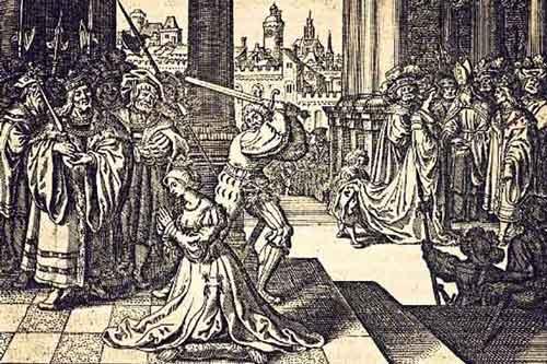Генрих VIII казнил жену