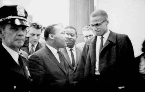 Малькольм Икс и Мартин Лютер Кинг