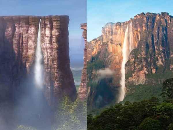 Райский мультяшный водопад Up