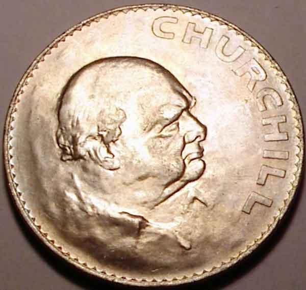 Уинстон Черчилль на монетах