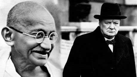 Уинстон Черчилль не любил политику Ганди