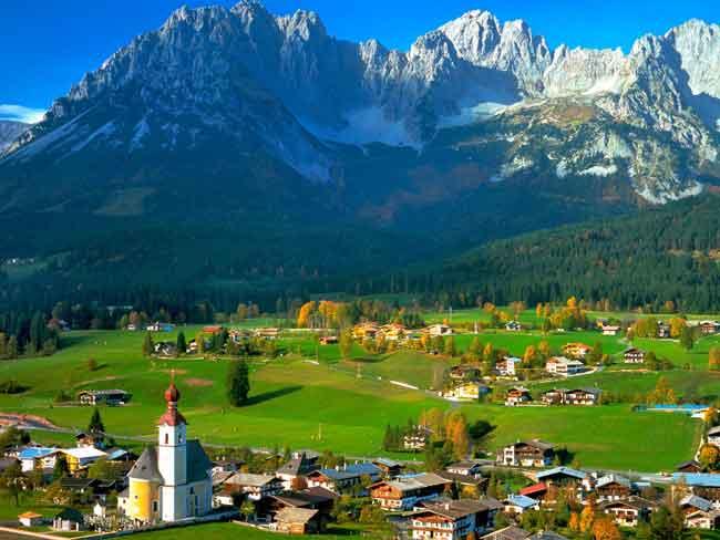 Австрия известна своими самыми высокими горами в Европе