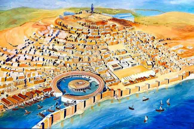 Цезарь восстановил древние города Карфаген и Коринф