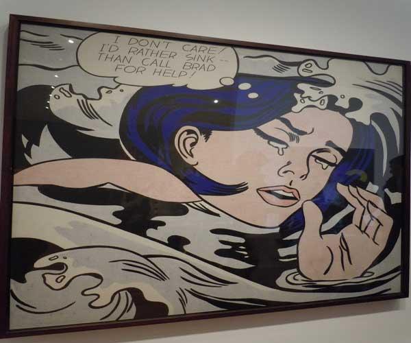 «Тонущая девушка» Лихтенштейна