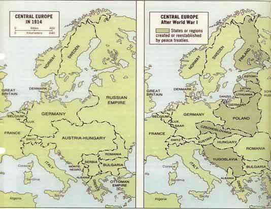 Возникновение новых государств после первой мировой
