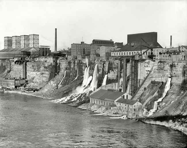 строительство гидроэлектростанции переменного тока на Ниагарском водопаде