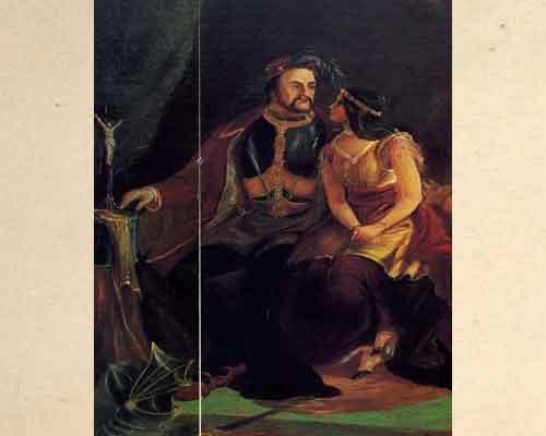 Покахонтас и Джон Рольф