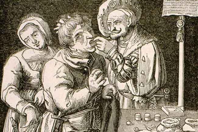 Чистка зубов в средние века