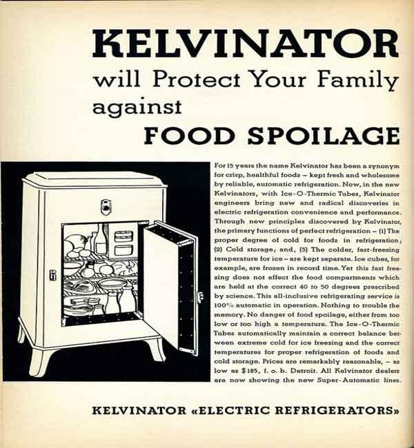 первые холодильники