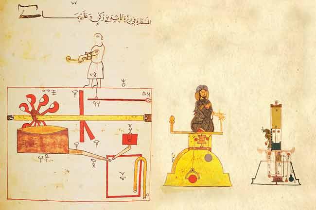 Группа роботов Аль-Джазари (1206)
