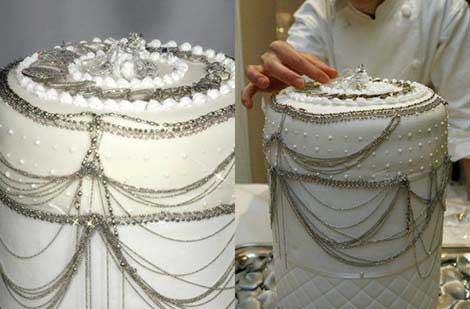 Платиновый свадебный торт
