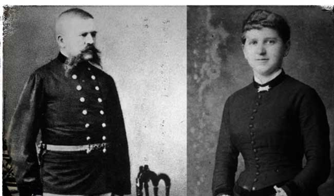 родители Адольфа Гитлера, Алоиз Гитлер и Клара Польци
