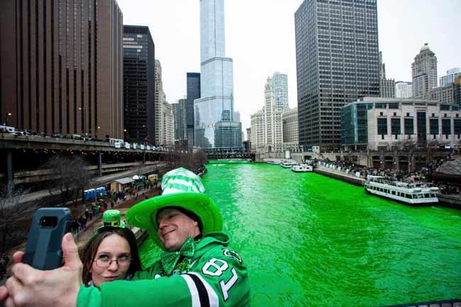 Зеленая река Чикаго