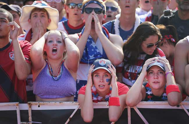 Спортивные фанаты в США