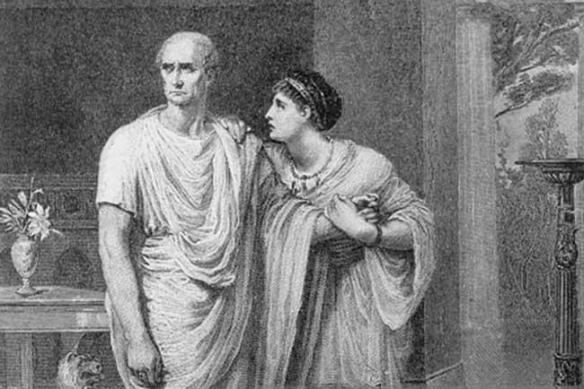 Цезарь с женой