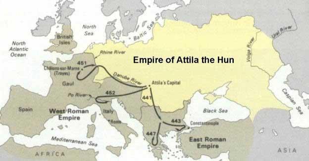 империя гуннов