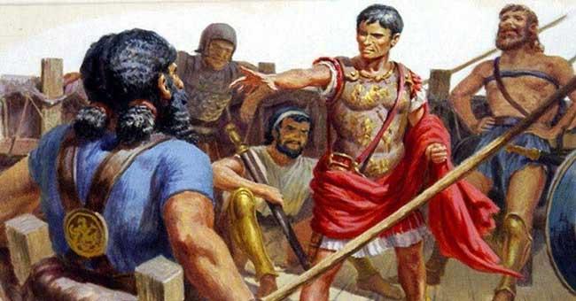 Юлий Цезарь был однажды похищен пиратами