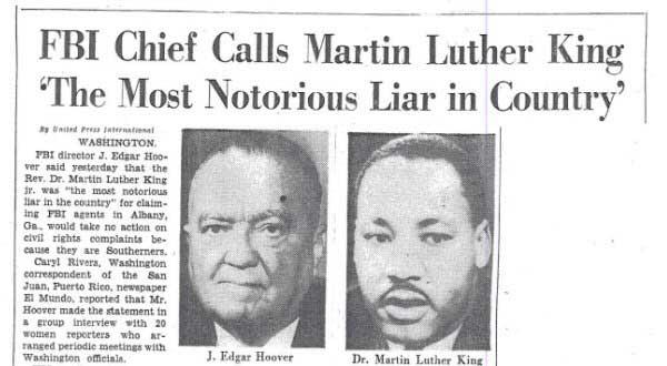 Слежка за М. Л. Кингом