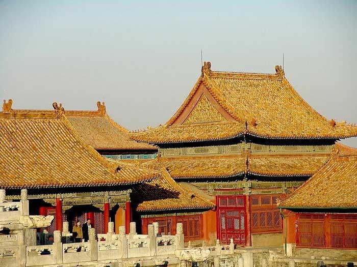 Крыши Китай